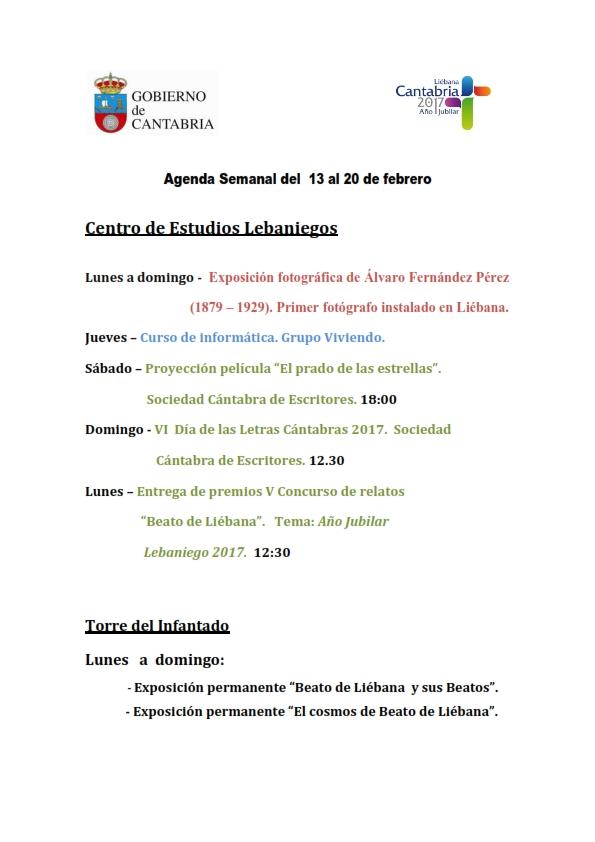 Agenda Semanal del 13 al 19 de febrero de 2017_001